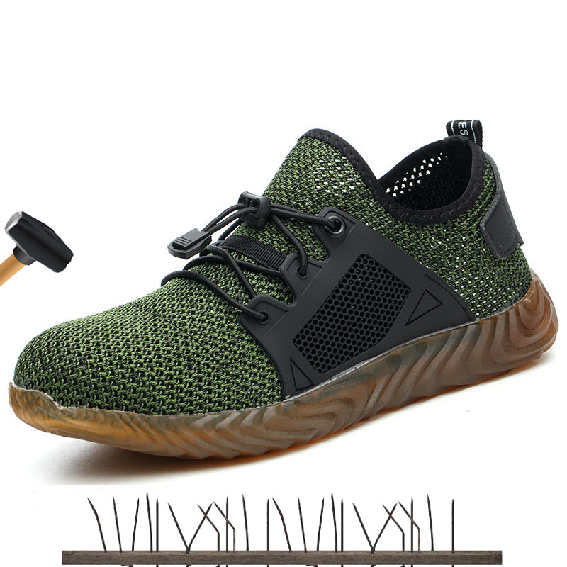 2019 Sales champion Dropshipping Men And Women Steel Toe Cap Safety Boots Indestructible Ryder Shoes Needleproof Work Sneakers