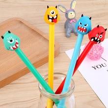 100 Pcs Cute Monster Neutral Pen Cartoon Monster Black Water Pen Signature Pen Stationery Kawaii School Supplies Pen