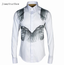2017 New Cotton 100 % Dress Shirts High Quality Mens Casual Shirt Men Wings To Protect Plus Size 4XL Slim Fit Non-iron Shirts