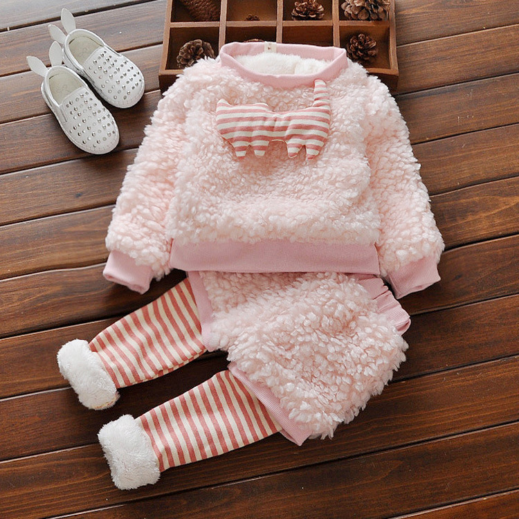 2016 children's clothes suit autumn winter wing pullower+pant 2cps girls baby clothes set warm newborn girl outfits for baby set baby girl clothes baby winter suit spring and autumn warm baby boy clothes newborn fashion cotton clothes two sets of underwear