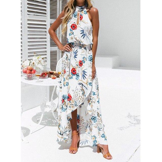 176a2a352f8 Women Dress Summer Sexy Women Boho Floral Long Maxi Dress Sleeveless Evening  Party Summer Beach Dresses Sundress 2018  03