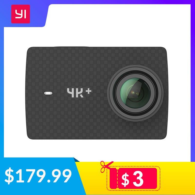 YI 4K + (Plus) câmera ação Edição Internacional PRIMEIRA 4 K/60fps Amba H2 SOC Cortex-A53 IMX377 12MP CMOS 2.2