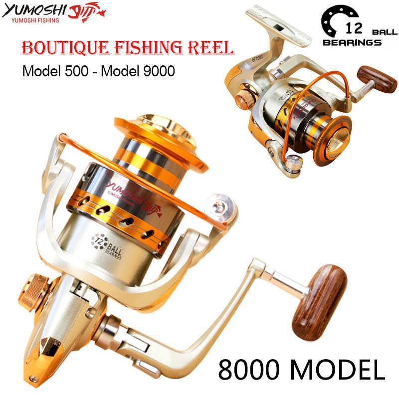Yumoshi EF500-9000 المعادن الكارب الصيد بكرة النار الصب الكارب مياه مالحة تصفح الغزل بكرات (8000)