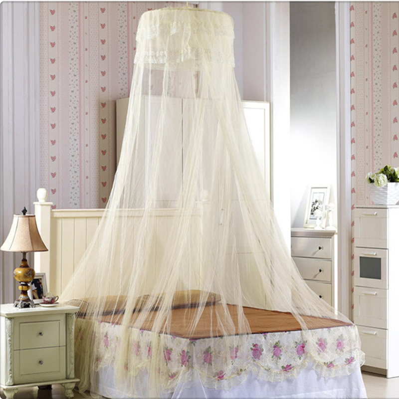 Cheap Elgant Canopy Mosquito Net Summer Polyester Mesh Fabric Home Textile Repellent Tent Round Curtain Kids Crib mosquitera Net