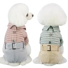 Clothing Dog-Jumpsuit Wedding-Costume Jacket Romper Pet-Coat Plaid-Suit Puppy Pets