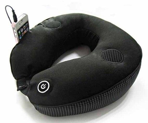 Comfort Massage Travel Neck Pillow With Headrest Strap U