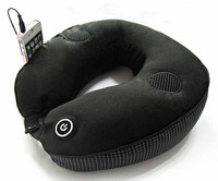 Comfort Massage Travel Neck Pillow With Headrest Strap U-Shape Foam Particle Musical Pillow