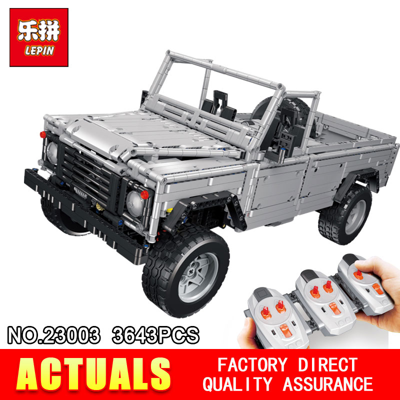 Lepin 23003 3643Pcs Technic series MOC Remote Contr Wild off-road vehicles model Building Blocks Bricks toys for Children lepin 20011 technic series super classic limited edition of off road vehicles model building blocks bricks compatible 41999 gift