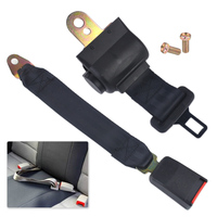 Car Auto Black 2 Point RetractableCar Auto Seat Safety Lap Belt Strap Buckle Adjustable Security Belt