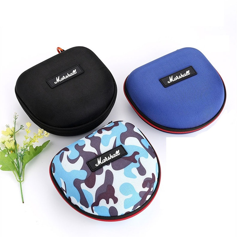 Headphones Carrying Case Portable Storage Carrying Hard Box for Headphones Accessories Case for Marshall Headphones 16*15*8cm