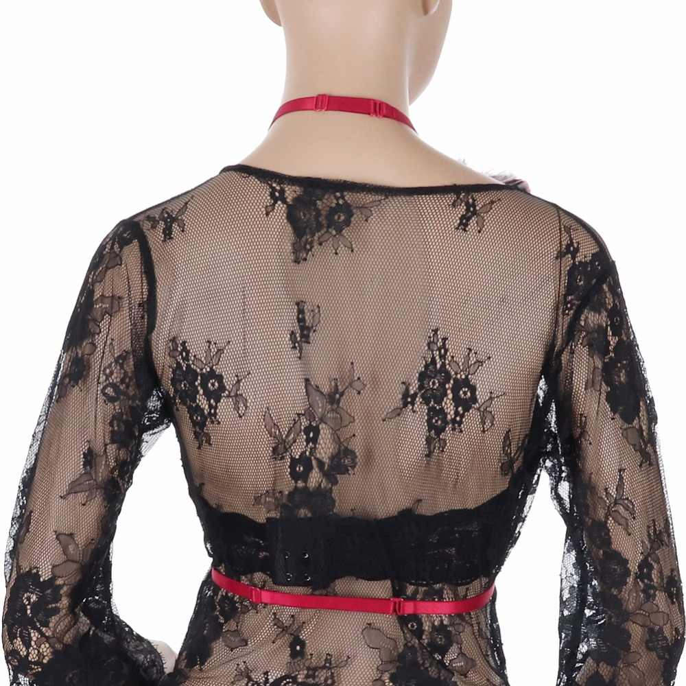 Women Red Handmade Feather epaulette Elasticity Harness Tops Gothic Shoulder Angel Wings Halloween Dance Festival Rave Wear