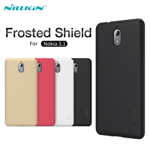 For Nokia 3.1 Case NILLKIN Super Frosted Shield Matte Hard Plastic Case For Nokia 3.1 TA-1063 TA-1057 Mobile Phone Back Covers nillkin protective plastic back case w screen protector for nokia lumia 630 golden