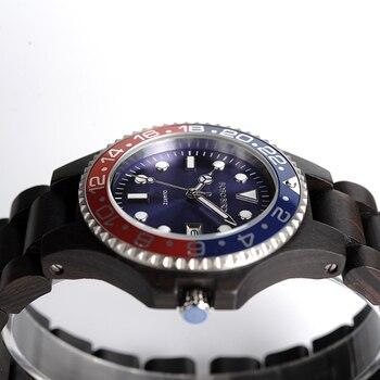 Мужские часы BOBOBIRD, классические часы со стальным циферблатом, деревянный чехол, часы с деревянным ремешком в подарочной коробке