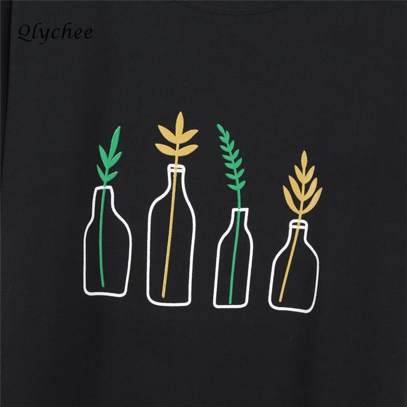 Qlychee Fashion Musim Panas T Shirt Wanita Pakaian Harajuku T-Shirt - Pakaian Wanita - Foto 3