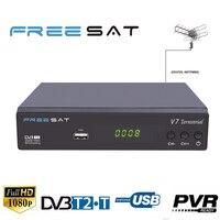 Spain FREESAT V7 Digital Terrestrial DVB T/T2 Receiver DVB-T DVB-T2 MPEG4 H.264 + AC3 Audio Terrestrial LCN TV Box HDTV