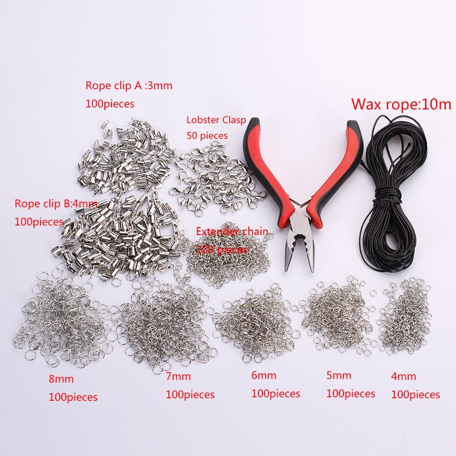 1 set Jewelry Tools Making Equipments Diy Kit Pliers For Necklace Bracelet Handmade Repair End Connect Materials Rings Rope Clip one day making a bracelet diy handmade book beaded necklace weaving chinese knot braided rope diy handmade bracelet book