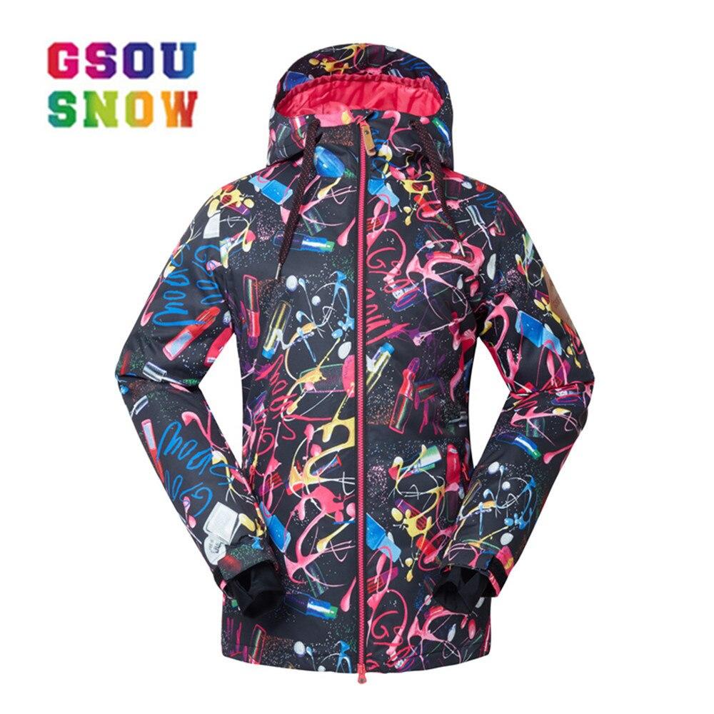 fb82ed4318 Cheap GSOU SNOW Girls chaquetas de nieve mujer chaqueta de esquí impermeable  snowboard invierno cálida chaqueta