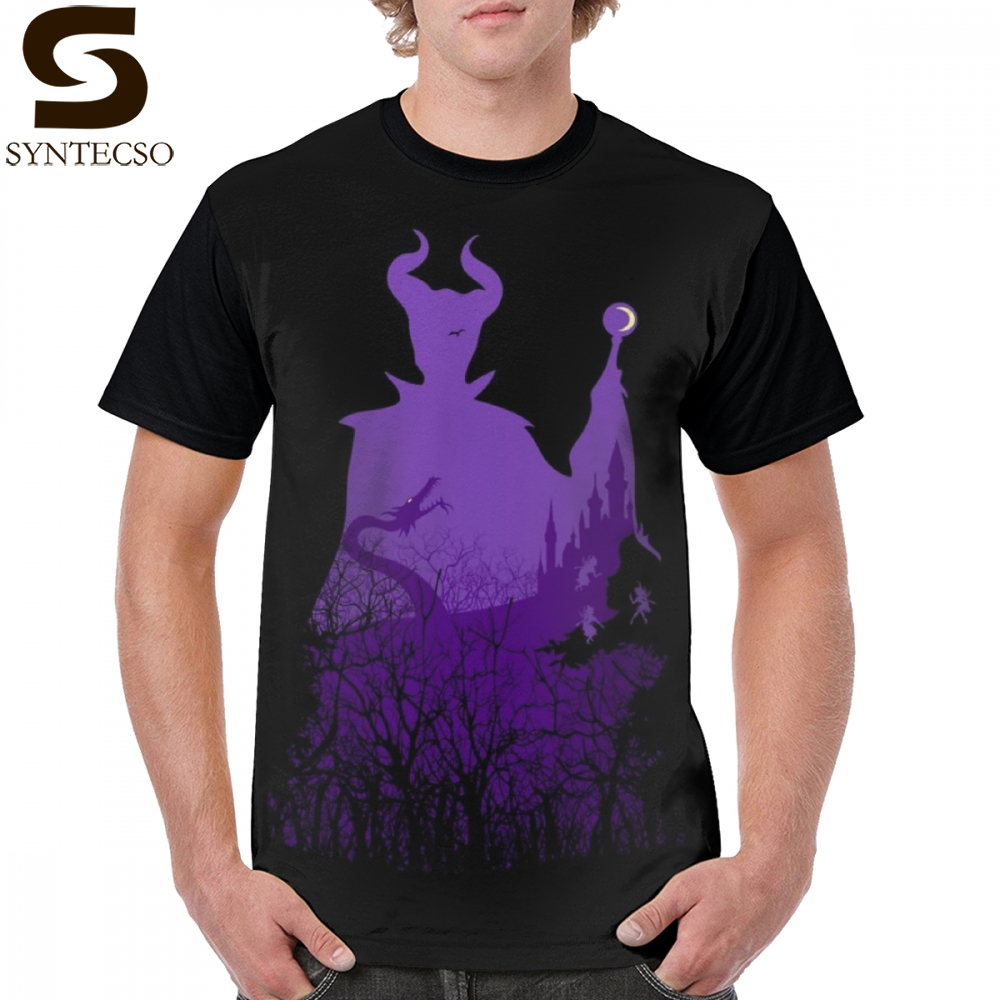 Villain T Shirt Midnight Maleficent T Shirt Man Cute Graphic Tee Shirt 100 Polyester Short Sleeves Printed Summer 4xl Tshirt in T Shirts from Men 39 s Clothing