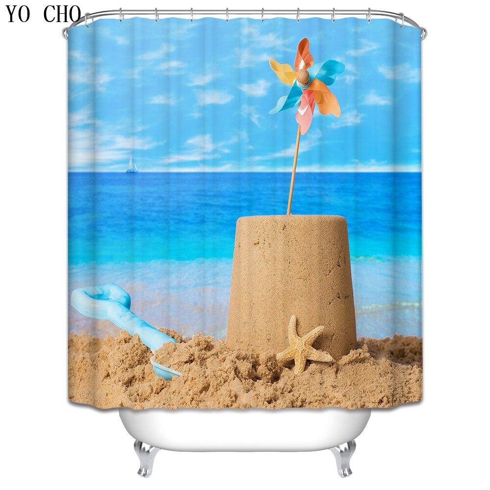 Weihnachten Duschvorhang strand landschaft leuchtturm bad vorhang ...