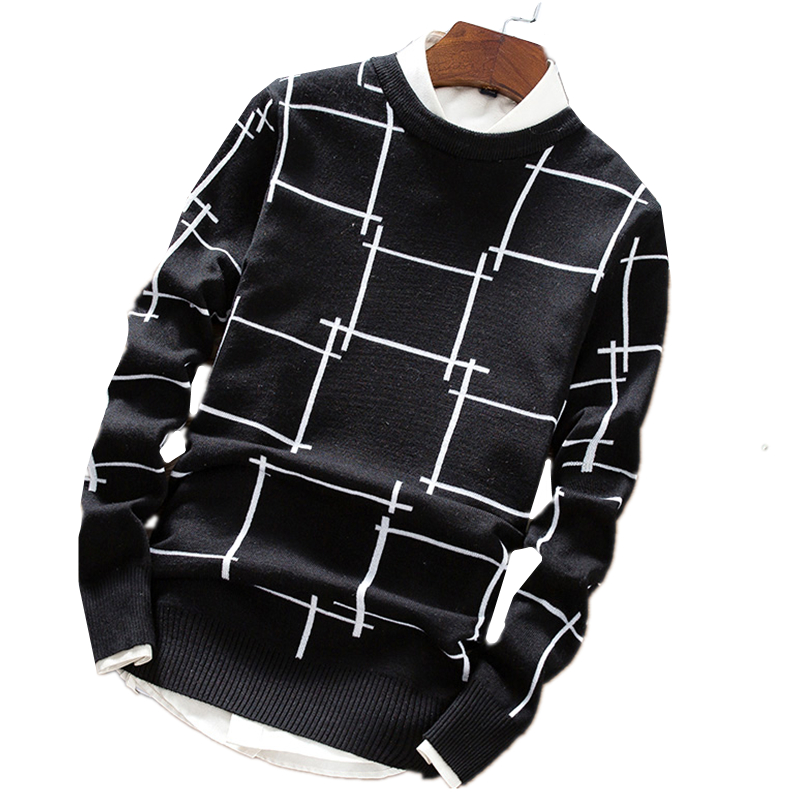 2018 Winter New Mens Casual O-Neck Sweater / Mens pullover warm sweaters
