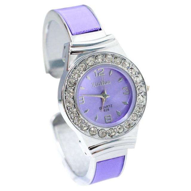 Bangele Watches Women Rhinestone stainless steel Dial Diamond Bangle Cuff Quartz Watch Bracelet Wristwatch montre femme relogio