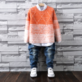 Fashion Boys Sweaters Kids Winter Sweater 2016 Children's Clothing Kids Thicking Pullover O-neck Knitted Sweater Free Shipping