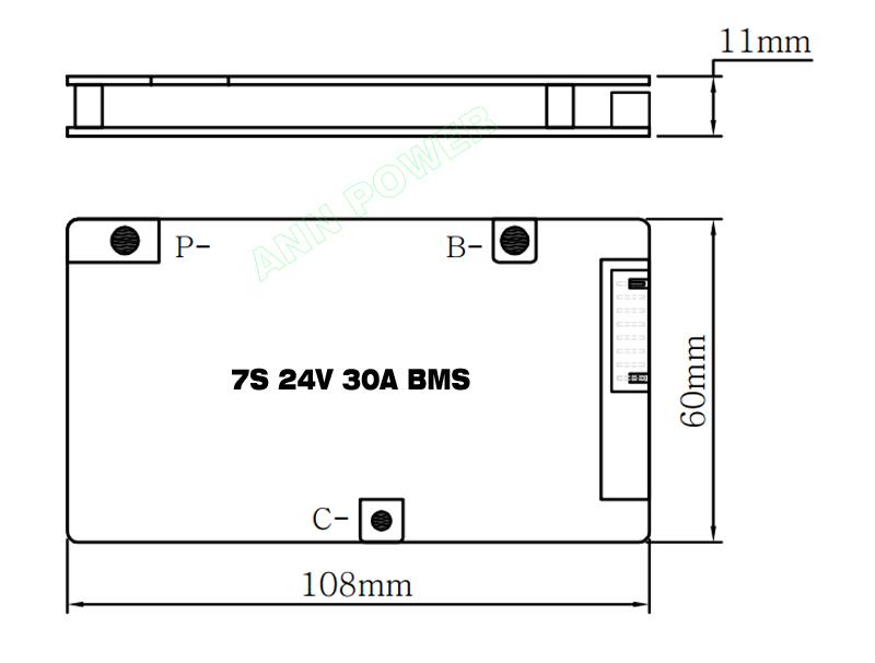 7S 24V 30A BMS 014
