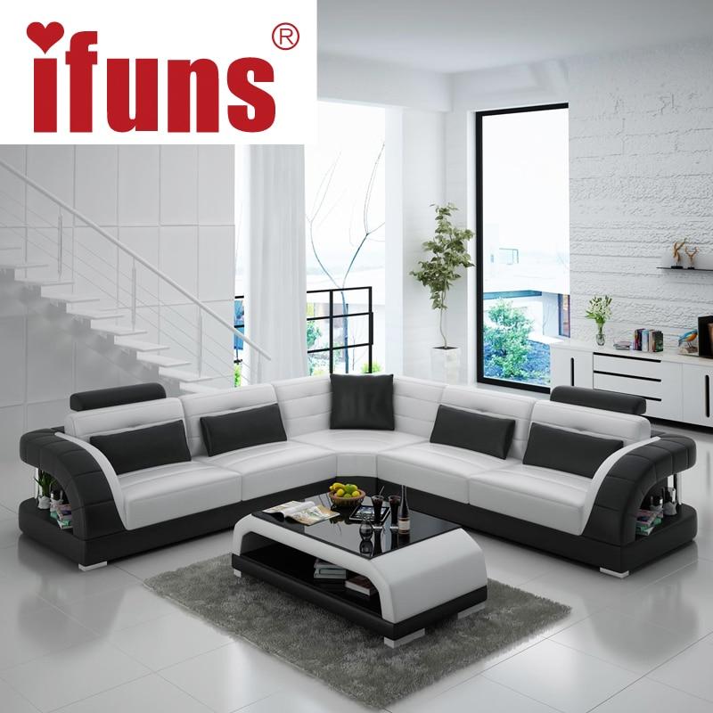 Sofa Design Modern Ergonomisch Weiß Leder Gepolstert