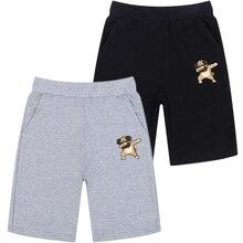 Kids Boys Dabbing Dog Pug Shorts Girls Cotton Cute Dance Dog Sweat Short Jogger