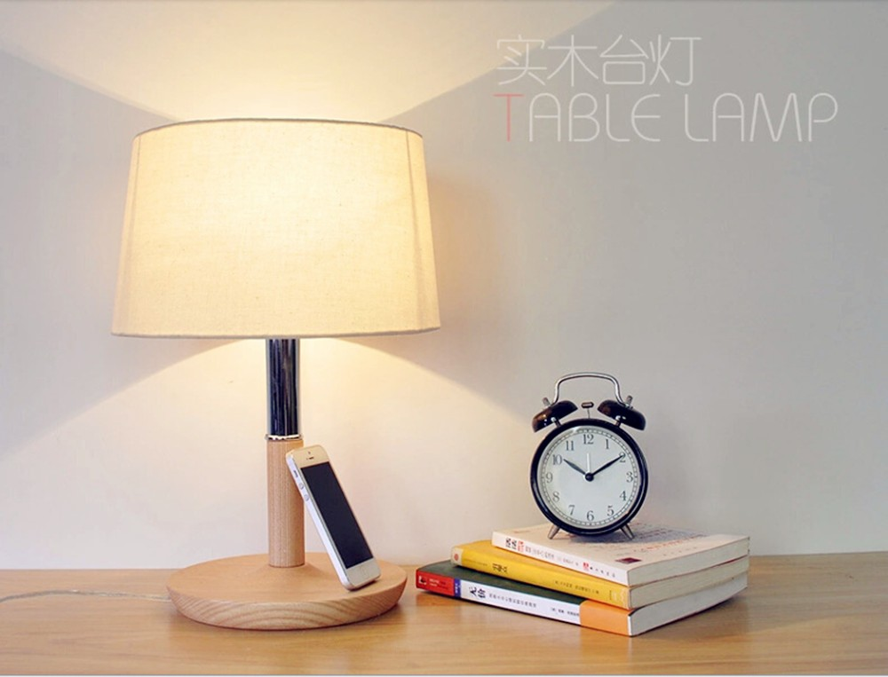 Wooden Table Lamp 280**280*400mm E27 Wood Cloth White Desk Light For Study Room,Bedroom Home Decoration Living Room WTL014 retail design children clothing set for kids girl dark blue cardigan t shirt pink skirt high quality 2014 new free shipping