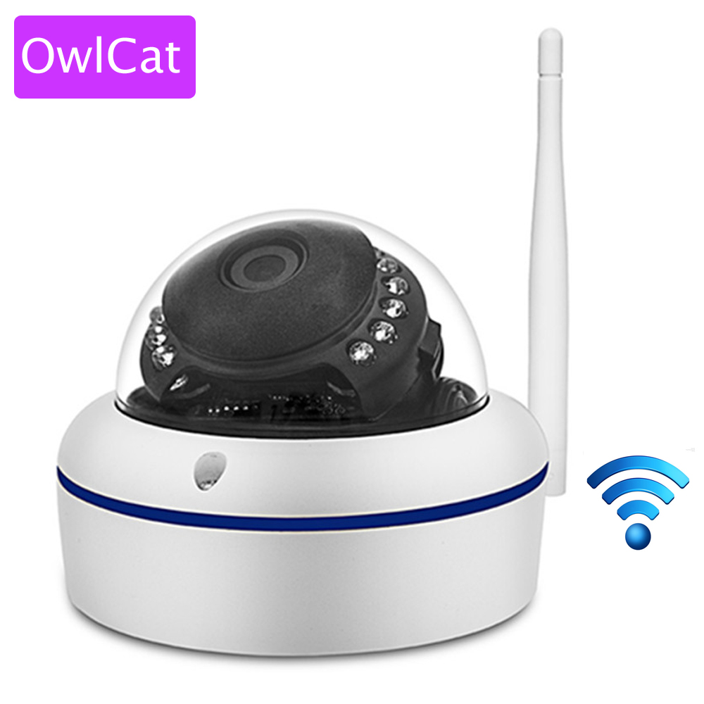 OwlCat Home Video Surveillance Wireless Indoor Dome IP Camera IR Wifi Full HD 1080P CCTV P2P Network Security Kamera SD Card