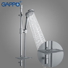 GAPPO shower Slide Bars shower extension tube bathroom sliding bar Wall Mounted Shower rail slide holder(China)