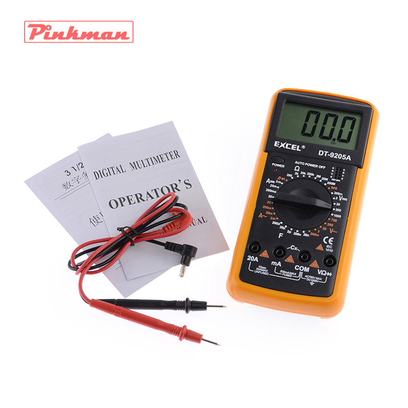 DT9205A AC DC Display LCD Elettrico Professionale Handheld Tester del Tester Multimetro Digitale Multimetro Amperometro Multitester
