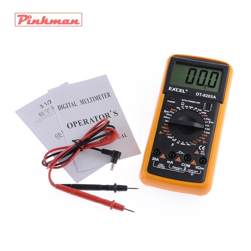 DT9205A AC DC LCD Display Professional Electric Handheld Tester Meter Digital Multimeter Multimetro Ammeter Multitester