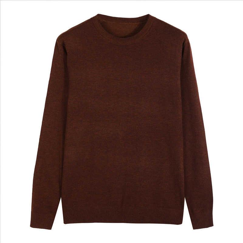 10 ألوان الرجال عادية متماسكة سترة 2019 الخريف الشتاء جديد سليم صالح البلوز الصوف سترة الكشمير المعنقة الرجال ماركة الملابس