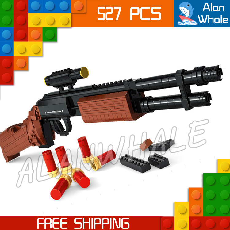 527PCS New Model Toy M870 Shot Gun Weapon For Military Assault Soldier Building Kit Blocks Toys Shell Brick Compitable with Lego kazi 228pcs military ship model building blocks kids toys imitation gun weapon equipment technic designer toys for kid