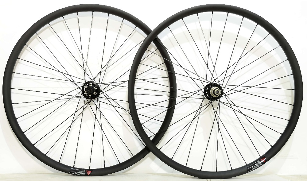 29ER Asymmetric 27mm Width 23 depth MTB Tubeless ready Carbon Wheels super light Mountain bicycle XC hookless wheelset цены онлайн