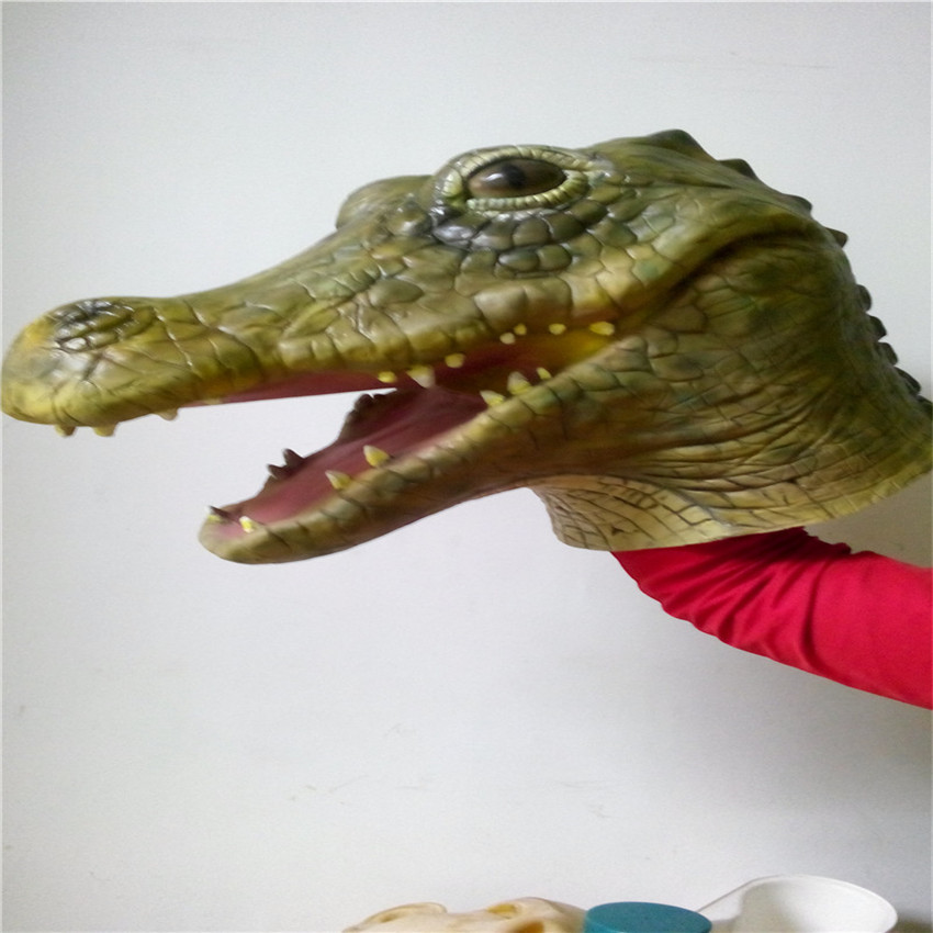 Full Face Carnival Celebrations Party Crocodile Mask FULL OVERHEAD FUNNY ADULT LATEX RUBBER WILDLIFE ANIMAL FANCY