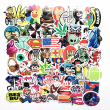 100pcs/bag Not repeating waterproof DIY stickers Doraemon sunflower Batman Spider-Man For home decor suitcase notebook PVC decal