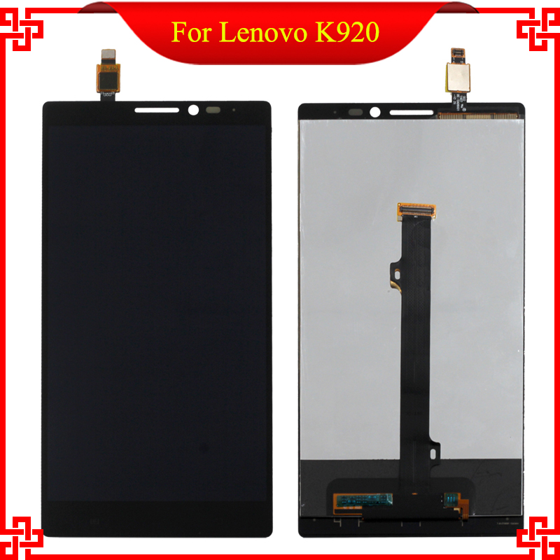 For Lenovo VIBE Z2 Pro K920 LCD Display with touch Screen digitizer Assembly Black High Quality Mobile Phone LCDs аксессуар чехол lenovo k10 vibe c2 k10a40 zibelino classico black zcl len k10a40 blk