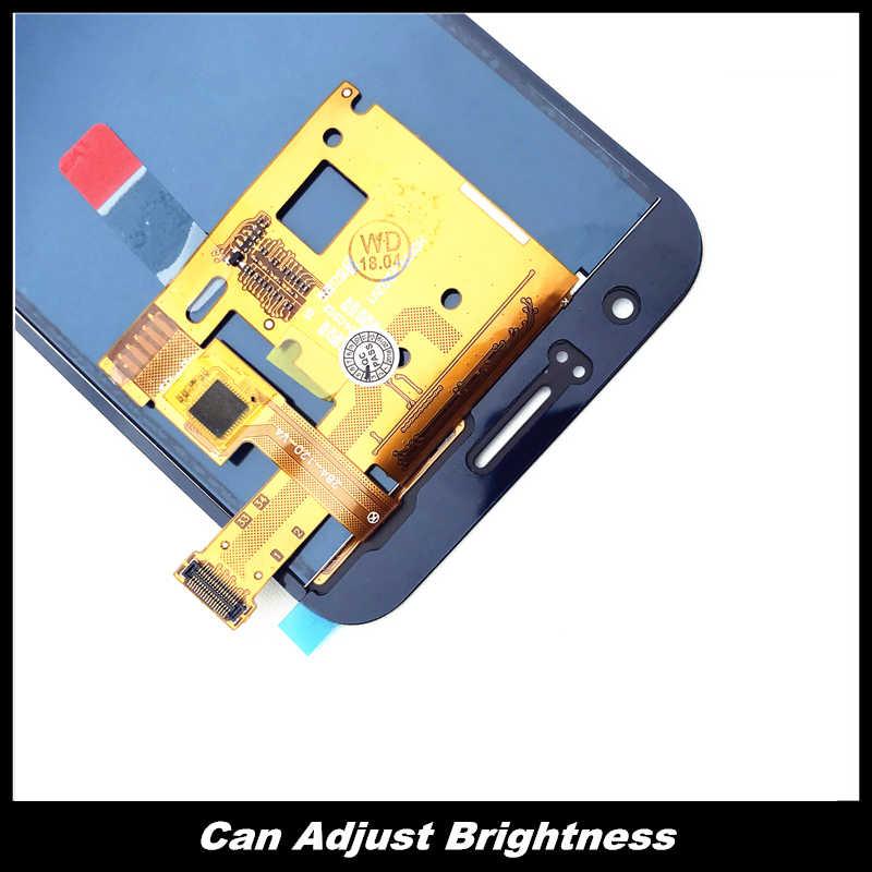 لسامسونج غالاكسي J120 2016 J120F J120H J120M العرض مع التحكم في السطوع مجموعة المحولات الرقمية لشاشة تعمل بلمس LCD استبدال