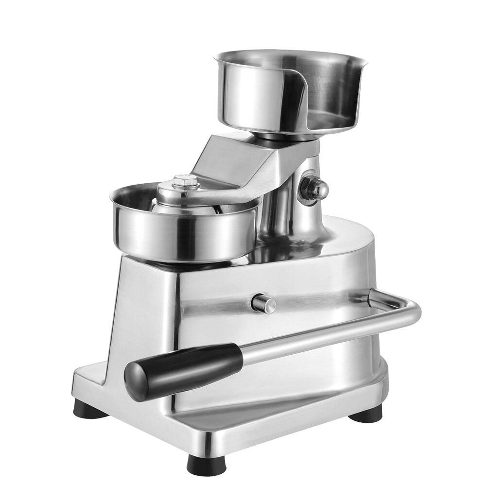 Manual Hamburger Maker Machine Patty Press Burger Machine Patties Maker 13cm Diameter 500 Pads