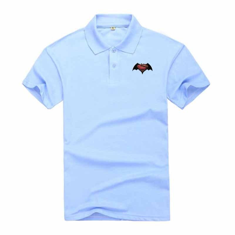 2018 New Aramy   Polo   Shirt Men's Casual Short Sleeve Cotton Camisa   Polos   Shirt Reserved Sergio Batman Superman Style 12 Colors
