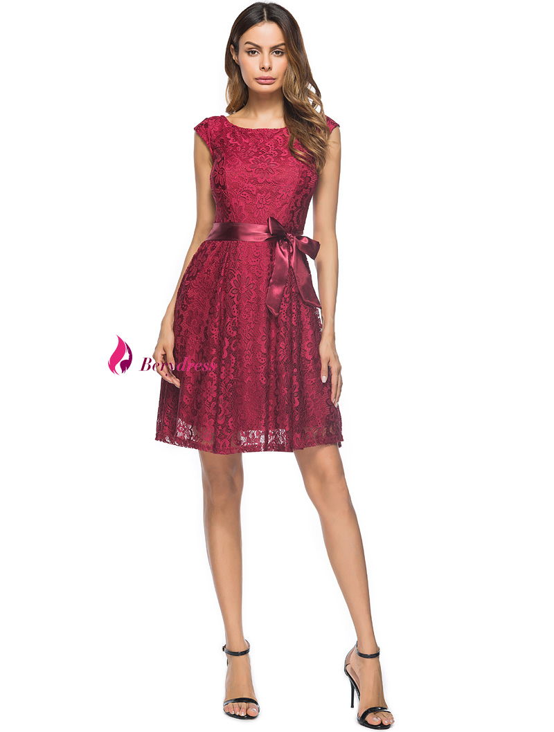 Berydress Elegante Frauen Vintage Hochzeit Kleid Flügelärmeln mit ...
