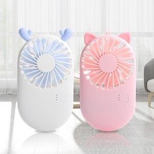1PCs Cute Portable Mini Fan Ha