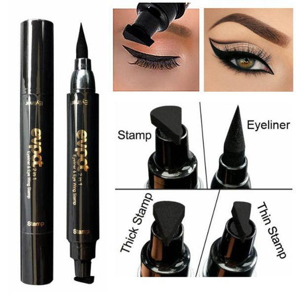 1 Pcs Charming Cat Eye Winged Eyeliner Sexy Eye Cosmetic Seal Stamp Wing Double Head Waterproof Eyeliner Pen Tool To Assure Years Of Trouble-Free Service Beauty Essentials