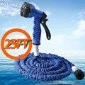Promoção 7 em 1 Multifunções Carro Pistola de Água Mais Limpa Latex Expansível Flexível Mangueira de Jardim 25FT Durável Magia máquina de Lavar Carro