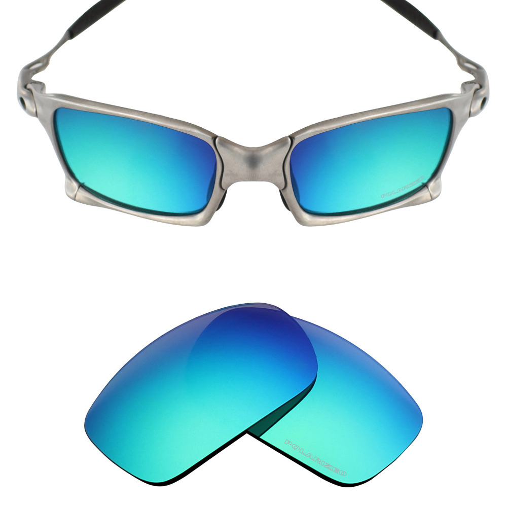 Mryok+ POLARIZED Resist SeaWater Replacement Lenses For Oakley X Squared X-Metal Sunglasses Emerald Green
