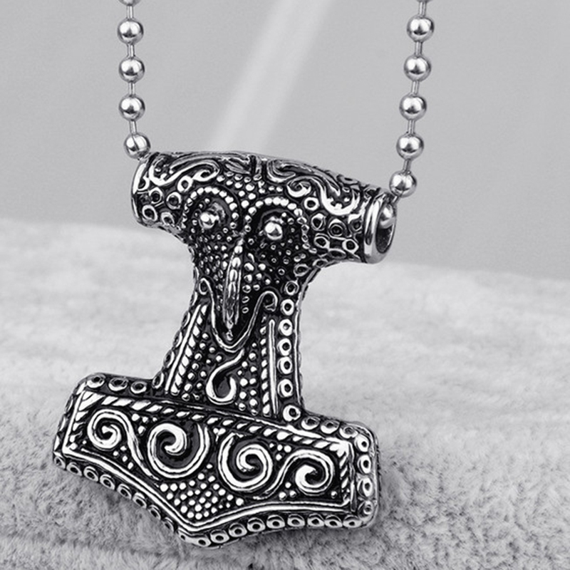Popular Movie Theme Jewelry Mjolnir Hammer Pendants Necklace for Men Alloy Myth Thor s Necklace