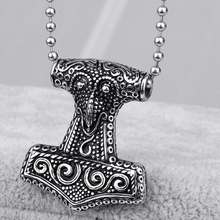 Popular Movie Theme Jewelry Mjolnir Hammer Pendants Necklace for Men Alloy Myth Thor's Necklace